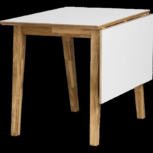 ArlingPLUS granit/vit matbord 80x120 inkl. 4st Luton stolar