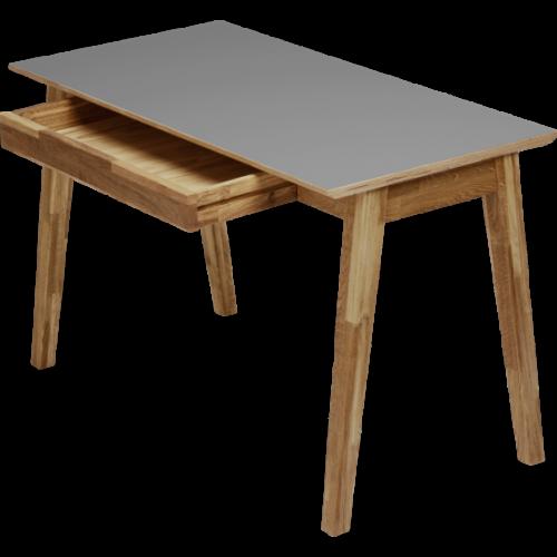 Funk Skrivbord 120 Grå laminat/ek