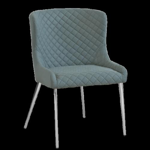 Hamilton stol Sea/Krom oval 2-pack