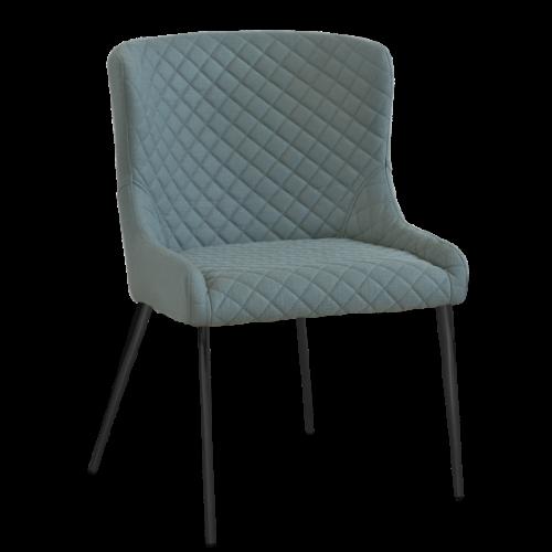 Hamilton stol Sea/Svart metall oval 2-pack