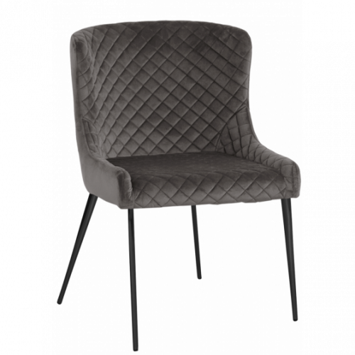 Hamilton stol Aluminum/Svart metall oval 2-pack
