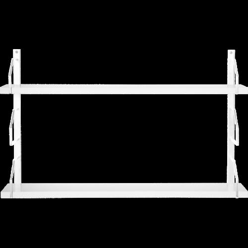 Square Vägghylla 2 Vitlack/MDF vitlack