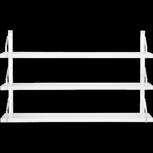 Square Vägghylla 3 Vitlack/MDF vitlack