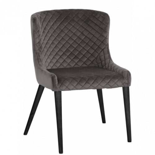 Hamilton stol Aluminum/Svartbets Folierad 2-pack