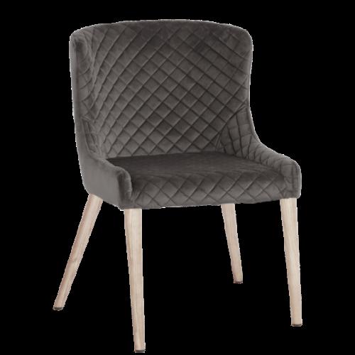 Hamilton stol Aluminum/Vitbets Folierad 2-pack