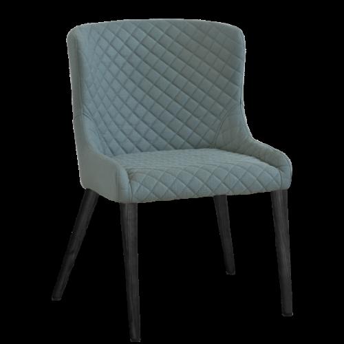 Hamilton stol Sea/Svartbets Folierad 2-pack