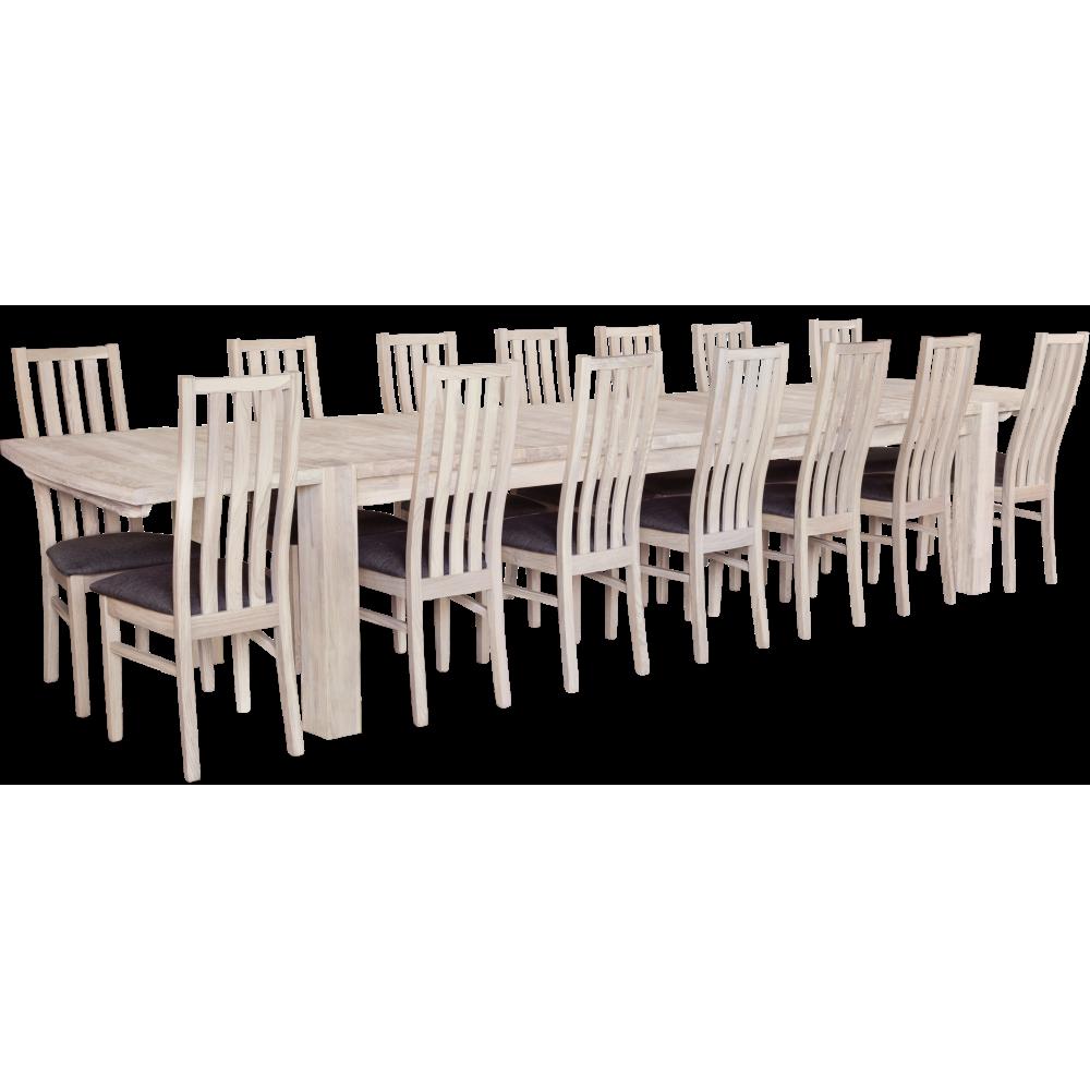 Balder Matbord 200 Vitoljad med 14x Lumi stol Viloljad / Antracit