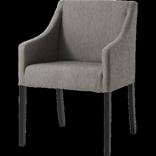 Viktor svartlack metall stol brun PU